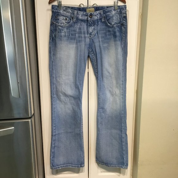 BKE Madison Bootcut Distressed Jeans